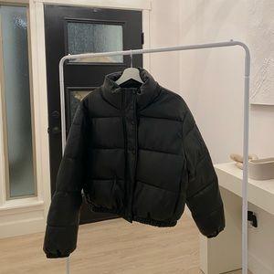 Brand new black leather jacket
